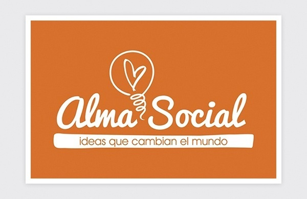 Logo design for Alma Social (negative)
