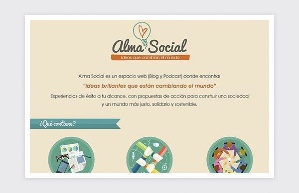 Design of infographics for Alma Social