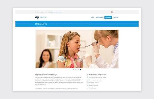 Tongue depressors section Depresoria website.