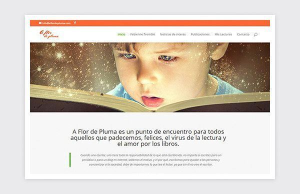 Blog-Web responsive de A Flor de Pluma.