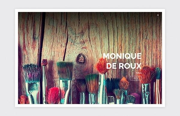 Página de inicio de la web de Monique de Roux