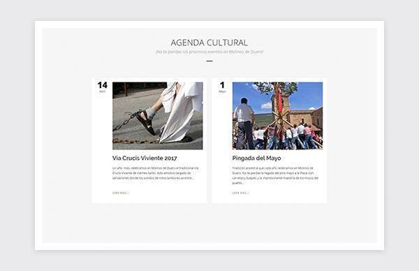 Homepage of the website of the Town Hall of Molinos de Duero (Soria).