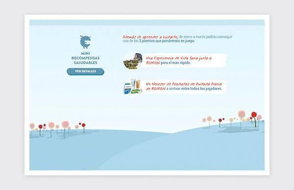 Homepage of the game Cierra la puerta a la gripe of Boiron.
