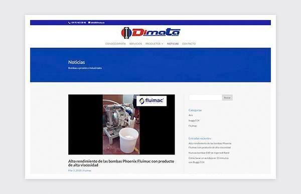 News page of Dimata website
