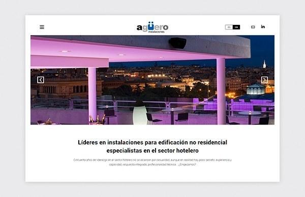 Diseño y desarrollo web de la web de Agüero Instalaciones