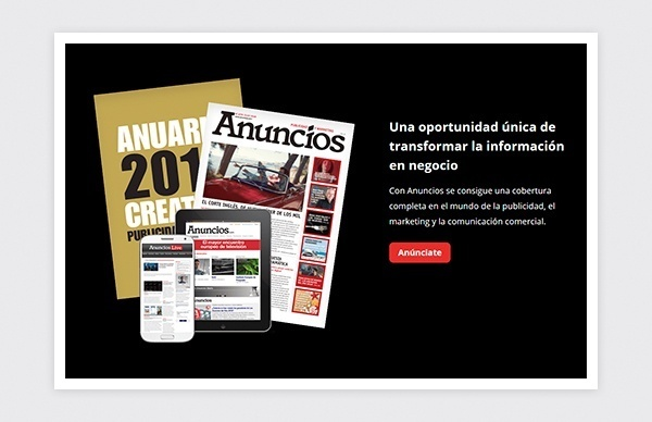 Page of the magazine Anuncios of Publicaciones Profesionales website