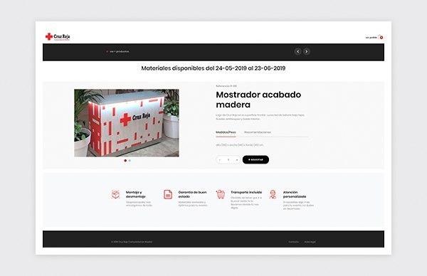 Ficha detalle producto plataforma reservas online Cruz Roja Madrid