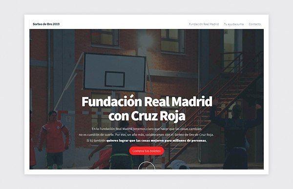 Site Web Fondation du Real Madrid Croix-Rouge espagnole