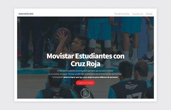 Site Web Fondation Movistar Estudiantes Croix-Rouge espagnole