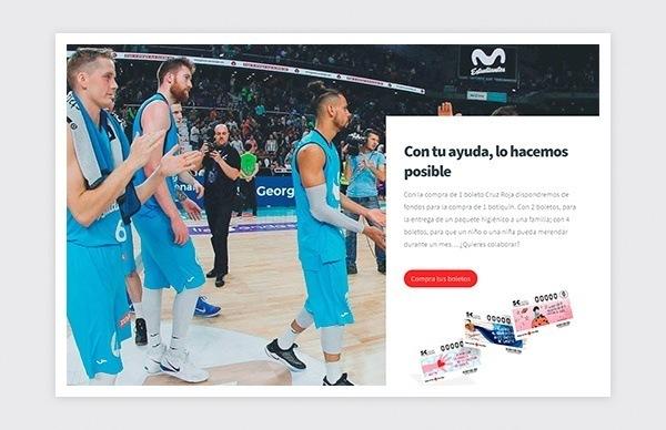 Site Web Fondation Movistar Estudiantes Croix-Rouge espagnole - Achetez vos billets