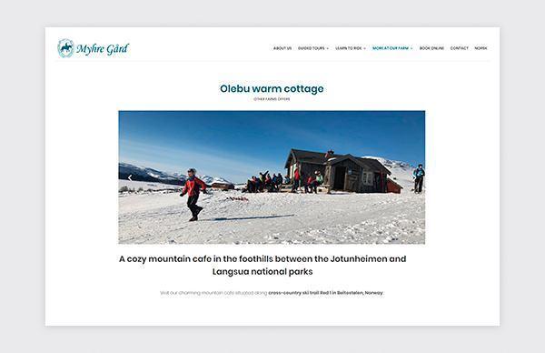 Page Olebu Warn Cottage sur le site Web de Myhre Gård
