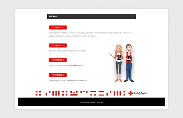 Detail page of the Spanish Red Cross volunteer guide 2019