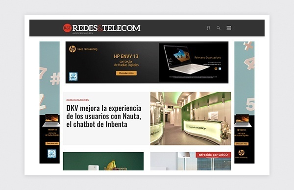 Design and layout Html 5 Responsive Redes Telecom magazine