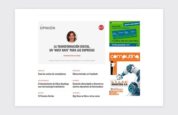 Página web  de la revista Redes Telecom