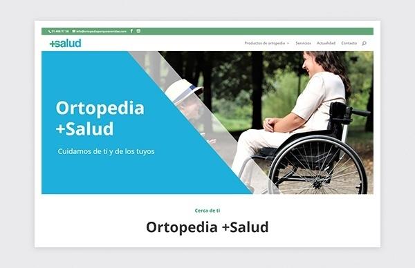 Página de inicio de la web de +Salud