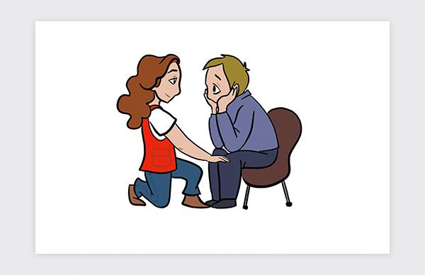 Illustration pour  le Guide de prévention et de sécurité pour les bénévoles de la Croix-Rouge