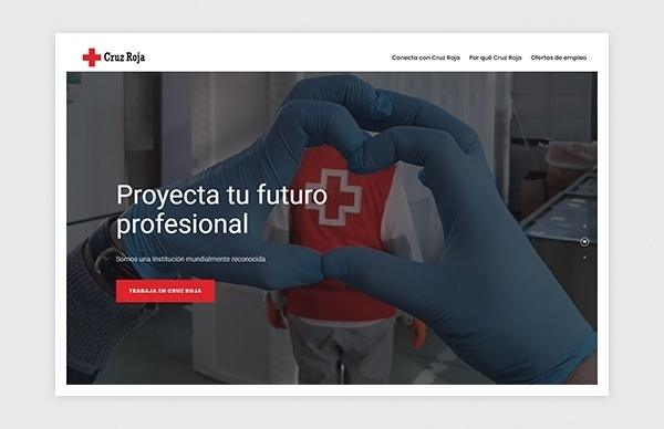 Home page of the Madrid Red Cross Talent website