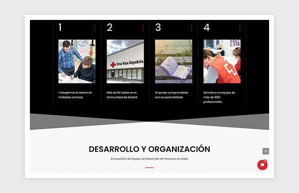 Site Web de talent de la Croix-Rouge de Madrid
