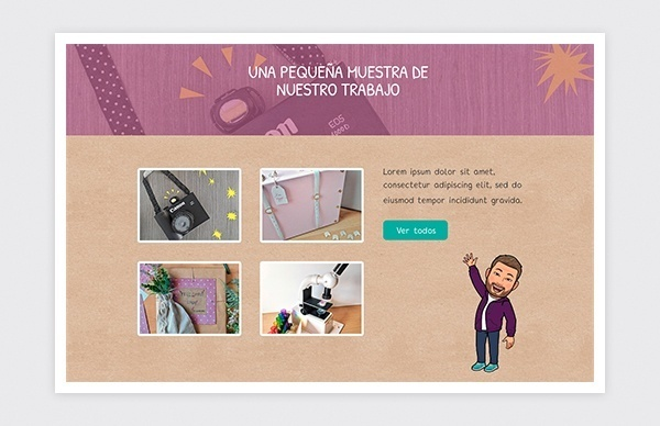 Detalle página de inicio de la web de Nahidut