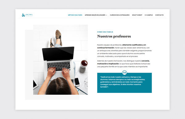 Página de Método Dialtares de la web de Dialtares School