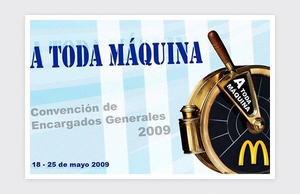 Evento Convención de Encargados Generales 2009 de McDonalds.